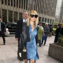 Nicole Richie promotes her new show Fashion Star as she heads into the Sirius Radio building in New York City March 13, 2012