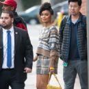 Yara Shahidi – Arriving at Jimmy Kimmel Live! in LA