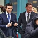 Jamie Dornan and Max Martini on set of Fifty Shades Darker  (March 2, 2016)