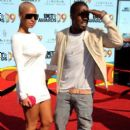 Kanye West and Amber Rose arrive at the 2009 BET Awards held at the Shrine Auditorium in Los Angeles, California - June 28, 2009 - 397 x 594