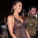 Irina Shayk – Arrives at Versace Show in Milan