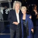 Brian May and Anita Dobson attend the European premiere of