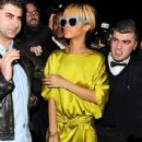 Rihanna Attracts a Crowd at the Mahiki Nightclub