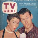 Johnny Carson - TV Guide Magazine Cover [United States] (3 September 1955)