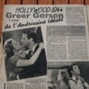 Greer Garson, Robert Taylor - Cine Revue Magazine Pictorial [France] (1 February 1945) - 299 x 448