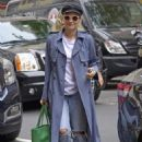 Diane Kruger in Long Coat out in New York