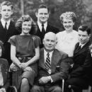 Standing left to right. Byrne Marston, Moulton (Pete) Marston, Olive Byrne Richard. Seated left to right: Marjorie Wilkes, Olive Ann Marston. William Moulton Marston, Donn Marston, Elizabeth Holloway Marston. 1947 photograph from Wonder Woman: The Complet