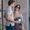 Eiza Gonzalez in Mini Dress with Luke Bracey at Blu Jam Cafe in Los Angeles