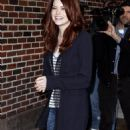Emma Stone-Visits 'late Show With David Letterman' At Ed Sullivan Theater On October 14, 2010 In New York City