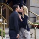 Amber Heard and Vito Schnabel – Sharing a kiss in London