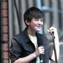 Greyson Chance was on Fox and Friends this morning, August 12, in New York City - 454 x 343