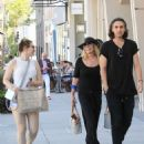 Shannon Tweed enjoys lunch with Sophie Simmons and Nick Simmons in Beverly Hills - 454 x 681