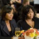 Dianne (Sharon Leal, left) and Sheila (Jill Scott, right) in TYLER PERRY'S WHY DID I GET MARRIED TOO?. Photo credit: Quantrell Colbert - 454 x 303