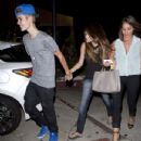 Justin Bieber and Selena Gomez were spotted out last night, July 6. The couple was joined by a friend