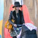 Nicky Hilton is spotted pushing her daughter Lily Grace in a stroller in New York City, New York on October 14, 2016 - 453 x 600