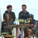 Louis Tomlinson and Danielle Campbell attend the Red Bull Racing Energy Station at Monte Carlo on May 29, 2016 in Monaco