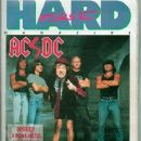 Chris Slade, Brian Johnson, Malcolm Young, Angus Young, Cliff Williams - Hard Force Magazine Cover [France] (December 1990)