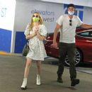 Emma Roberts in Mini Dress and Garrett Hedlund – Go for a check up in Los Angeles