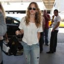 Jennifer Lawrence made her way to Los Angeles International airport on Wednesday (August 22) to catch a departing flight to Georgia