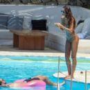 Izabel Goulart in Floral Bikini at the pool in Mykonos - 454 x 296