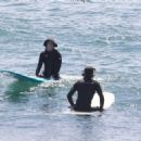Leighton Meester – Surfing the waves in Malibu