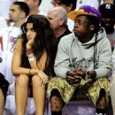 Lil Wayne and Dhea Courtside