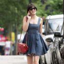 Daisy Lowe in Mini Dress – Out in London - 454 x 668