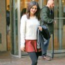 Victoria Justice In Mini Skirt At Siriusxm Studios In Nyc