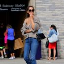 Katie Holmes – Seen while hailing a cab in Downtown Manhattan