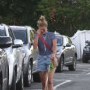 Nina Agdal – With her Dog out in Hamptons - 454 x 681