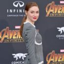 Karen Gillan attends the premiere of Disney and Marvel's 'Avengers: Infinity War' on April 23, 2018 in Los Angeles, California - 400 x 600