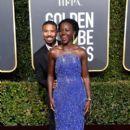 Michael B Jordan and Lupita Nyongo At The 76th Golden Globe Awards (2019) - 400 x 600