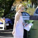 Elle Fanning in White Dress out in LA - 454 x 636