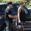 Elisabetta Canalis and her hubby are spotted out running errands in West Hollywood, California on August 29, 2015 - 405 x 600