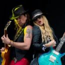 Orianthi Panagaris performs with Richie Sambora on Day 1 of the Calling Festival at Clapham Common on June 28, 2014 in London, England