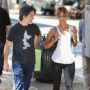 Halle Berry in Tights – Out in Los Angeles - 454 x 681