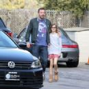 Ben Affleck is seen arriving to the Pacific Palisades Community Church in Pacific Palisades Sunday March 26, 2017