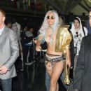 Lady GaGa In Underwear Etc - JFK Airport - Sep 13, 2010