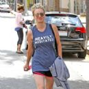 Kaley Cuoco Leaving Workout in Studio City - 454 x 683