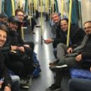 David Coulthard, Romain Grosjean and Felipe Massa hop on the tube ahead of Race of Champions