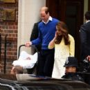 The Duke And Duchess Of Cambridge Depart The Lindo Wing With Their Daughter (May 2, 2015)