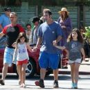 Adam Sandler takes his daughters Sunny and Sadie to breakfast in Malibu, California on September 07, 2015 - 454 x 361
