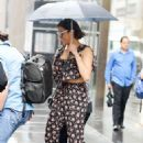 Paula Patton out on the rain in New York City