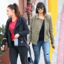 Nina Dobrev – Arriving at a dance studio in LA