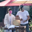 Selma Blair with boyfriend Ron Carlson at Mauro's Cafe in West Hollywood