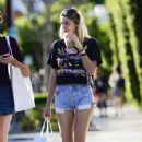 Jessica Hart in Denim Shorts out in LA - 454 x 566