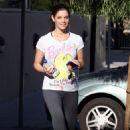 Ashley Greene - Leaving Her Gym & Heading To A Local Yogurt Shop - January 5, 2010