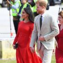 Meghan Markle and Prince Harry at Fuaʻamotu International airport in Tonga