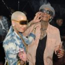 Amber Rose, Wiz Khalifa, and Trey Songz at Cameo Nightclub in Miami, Florida - January 28, 2012 - 454 x 467