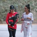 Miranda Cosgrove – Out with her dog Penelope in LA - 454 x 641